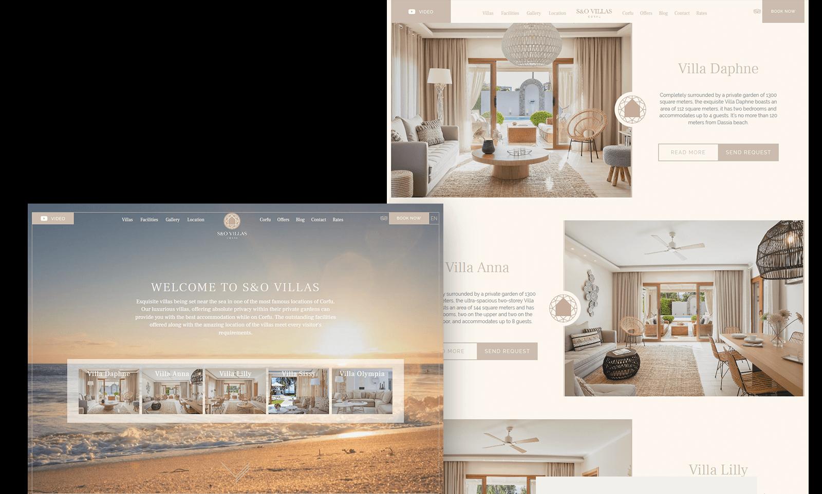 S&O villas website   go creations